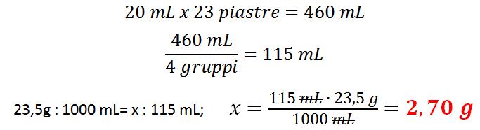 Calcoli preparazione del terreno