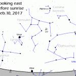 mappa del cielo 10 febbraio